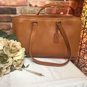 🌴COACH VINTAGE 1980s  BROWN COGNAC SATCHEL🌴